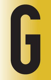 Tower Adhesive Reflective Letter Sign - Large G