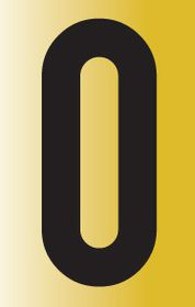 Tower Adhesive Reflective Letter Sign - Large O