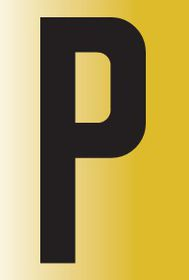Tower Adhesive Reflective Letter Sign - Large P