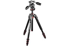 Manfrotto MK190GOA4TB-3W New 190 Go! Aluminium 4-Section Tripod Kit with MH804-3W 3-Way Head