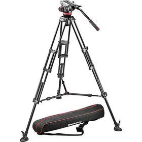 Manfrotto MVH502A,546BK Pro Video Aluminium Kit MVH502A Head + 546B Tripod + Unpadded Bag