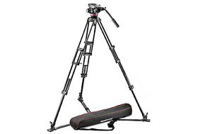 Manfrotto Pro Video Aluminium Kit MVH502A Head + 546GB Tripod + Unpadded Bag
