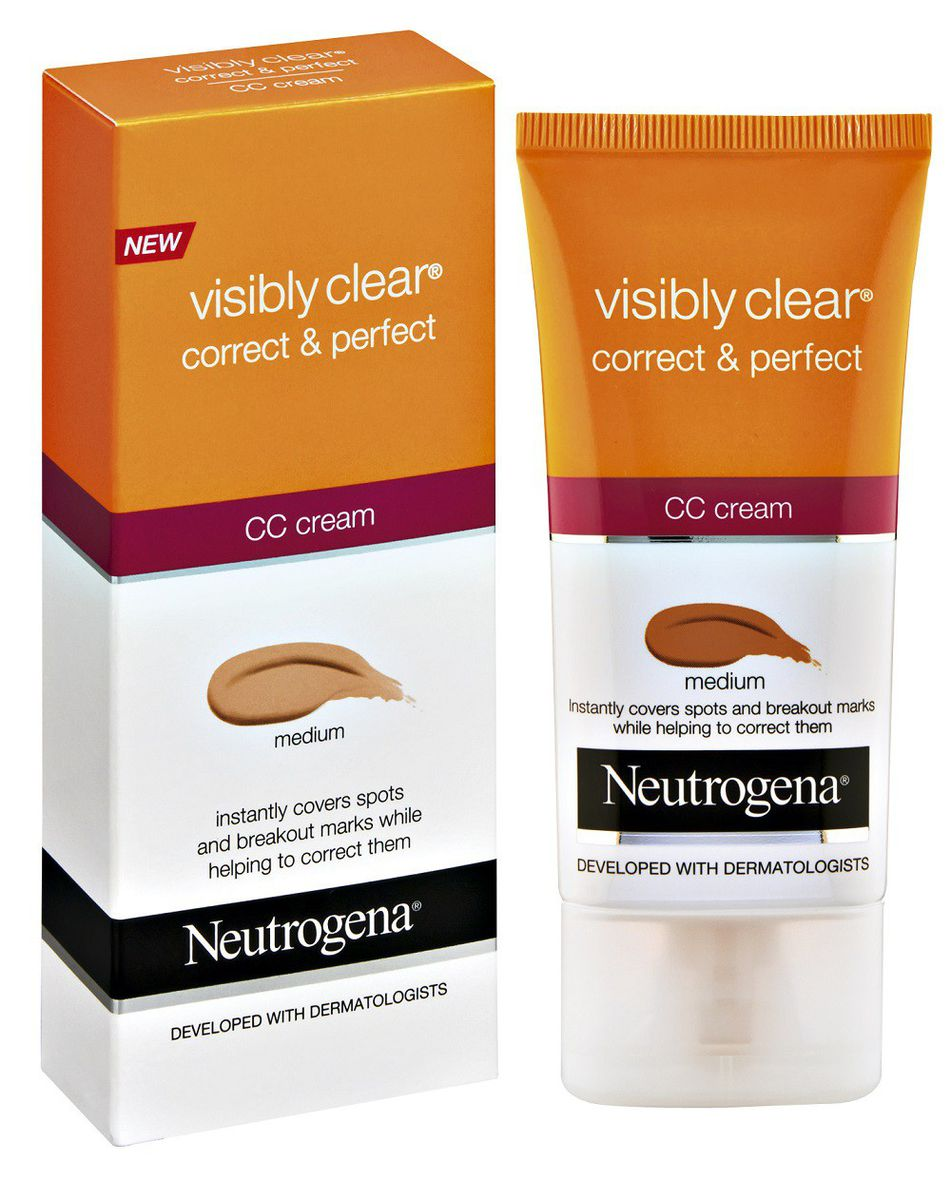 neutrogena visibly clear correct perfect cc cream medium buy online in south africa. Black Bedroom Furniture Sets. Home Design Ideas