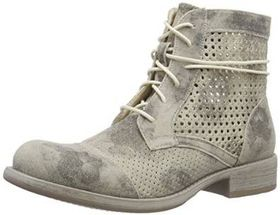 Rieker Ladies Perforated Distressed Ankle Boots