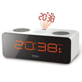 Oregon Scientific - Radio Projection Alarm Clock - White