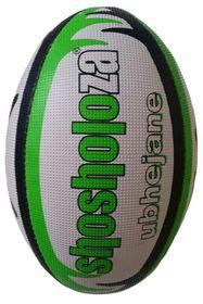 Shosholoza Ubhejane Match Rugby Ball - Green (Size: 3)