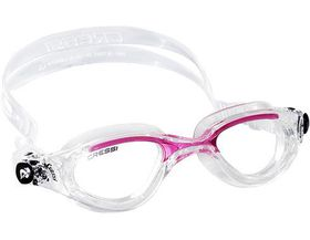Cressi Flash Swim Goggles - Clear and Pink