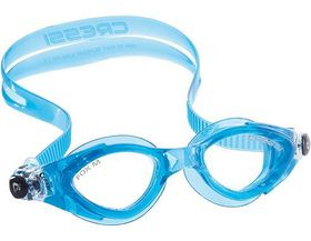 Cressi Flash Small Swim Goggles - Clear and Blue
