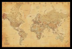 World map vintage with black frame buy online in south africa world map vintage with black frame gumiabroncs Image collections