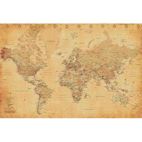 Map Of The World Online.World Map Vintage