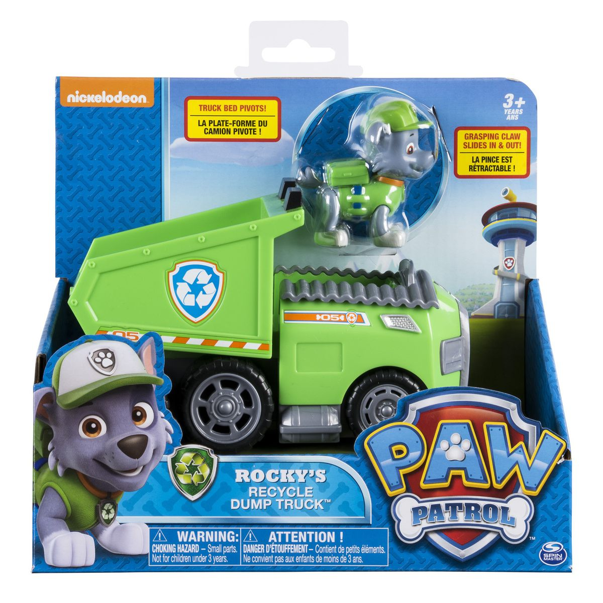 paw patrol basic vehicle pup rocky s recycling truck buy