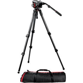 Manfrotto MVK504HD, 535K Manfrotto Video Kit 504HD Head + 535 Tripod + 100PN Bag