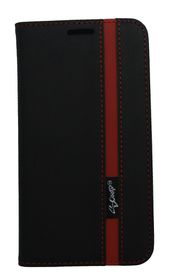 Scoop Executive Folio For Samsung A3 - Black & Red
