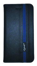 Scoop Executive Folio For Samsung J1 Ace - Black & Blue