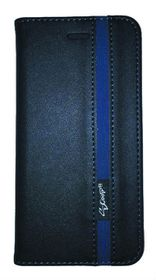 Scoop Executive Folio For Sony Xperia E4 - Black & Blue