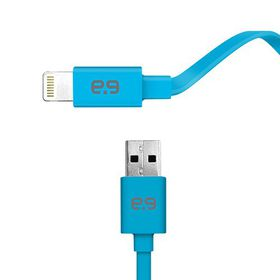 Puregear MFI Apple Lightning USB Charge & Sync Flat Cable 1.2m - Blue