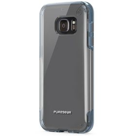 Puregear Samsung Galaxy S7 Slim Shell Pro - Clear & Blue