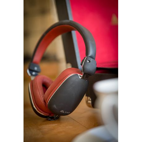 Wired On Ear Headphones | Jivo Elyxr Fusion Wired On Ear Headphones Black Burgundy Buy
