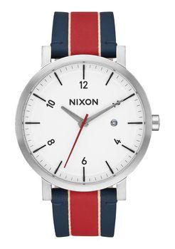 Nixon Rollo White & Stripe Watch - A9451854-00