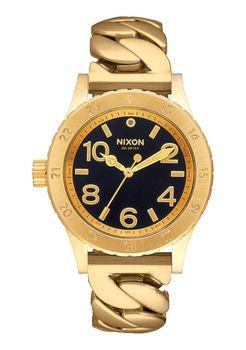 Nixon 38-20 Black & Gold Chain Watch - A410-2282-00