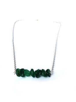 Lakota Inspirations Gemstone Bar Necklace- Aventurine