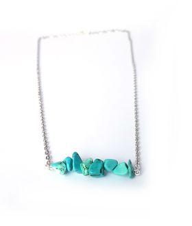 Lakota Inspirations Gemstone Bar Necklace- Turquoise