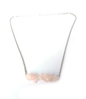 Lakota Inspirations Gemstone Bar Necklace- Rose Quartz