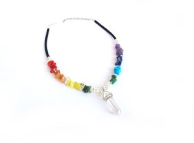 Lakota Inspirations Chakra Gemstone Choker- Clear Quartz  Crystal