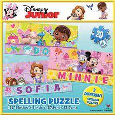 Disney Junior Spelling Puzzle - 60 Piece