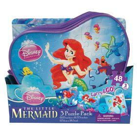 Disney Princess 3 Pack Puzzles In A Bag