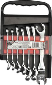 Yato - 7 Piece Flare Nut Flex Spanner Set