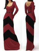 Snow White Sleeved Pendulum Dress - Burgundy