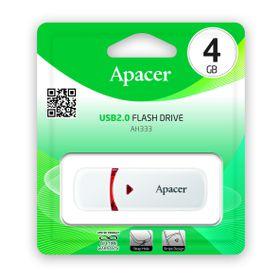 Apacer AH333 4GB USB2.0 Flash Drive - White