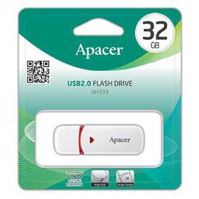 Apacer AH333 32GB USB2.0 Flash Drive - White