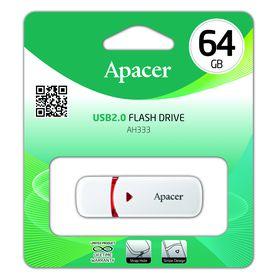 Apacer AH333 64GB USB2.0 Flash Drive - White
