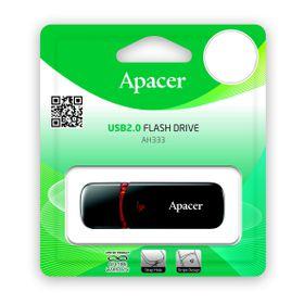 Apacer AH333 64GB USB2.0 Flash Drive - Black