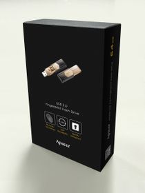 Apacer AH650 64GB USB3.0 Fingerprint Flash Drive - Gold