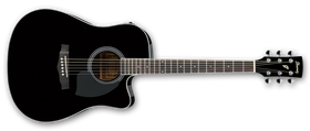 Ibanez PF Series PF15ECE-BK Acoustic Electric Guitar