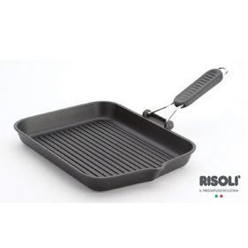 Risoli - Saporelax Grill Pan 26 x 26cm - Grey Handle
