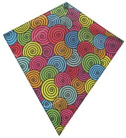 Allwin Diamond Kite Single Line Multi-Colour - 60x70cm