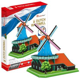 Cubic Fun Dutch Windmill Holland - 71 Piece