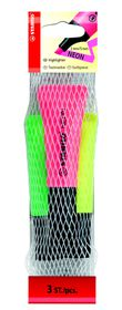 Stabilo Neon Highlighters 3 Pack (Yellow, Green, Pink)