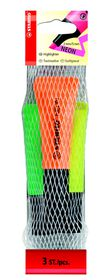 Stabilo Neon Highlighters 3 Pack (Yellow, Green, Orange)