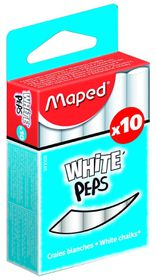 Maped White'Peps Chalk - 10 Pieces