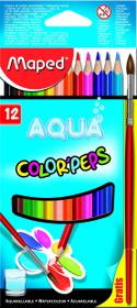 Maped Color'Peps 12 Aquarellable Pencils + Paintbrush