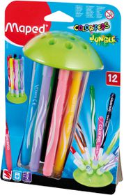 Maped Color'Peps 12 Jungle Felt Tip Colouring Pens