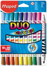 Maped Color'Peps Duo 10=20 Felt Tip Colouring Pens