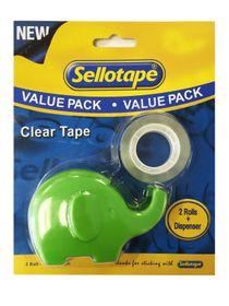 Sellotape Clear Tape + Elephant Dispenser