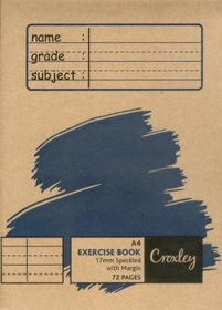 Croxley JD328 72 Page A4 Speckled Exercise Books (10 Pack)