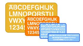 Helix Stencil Pack (5, 10, 20, 30mm Lettering)